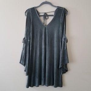 AE Olive green bell sleeve dress